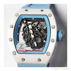 RC48-10 Designer-Uhr, Skelett-Design, RM055 Serie, Keramikgehäuse, Automatikwerk, importiert Gummiband, Faltschliesse. Mehrere