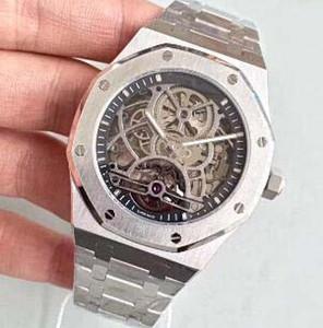 Marca de moda Homens suíços Designer Relógios Automático Esqueleto De Aço Inoxidável Pulseira Fivela REAL DIVER Luxo Mens Mecânica Relógios De Pulso