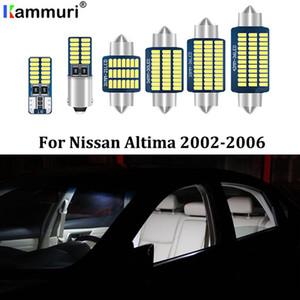 Kammuri 15pcs Free Error Blanc LED Light Kit voiture Intérieur paquet pour 2002-2006 Altima LED Éclairage intérieur