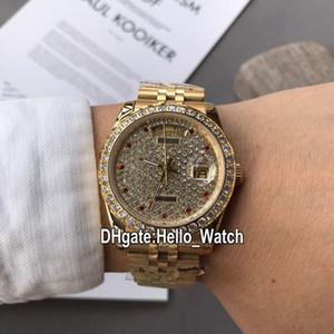 Neues Luxus-36mm Tag Datum m126333-0012 126333 Automatik Herren-Uhr Gypsophila Dial Diamant Lünette Gelbgold-Armband-Uhren Hello_Watch