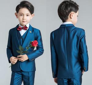 Biçimsel OccasionTuxedos Notch Yaka İki Düğme Merkezi Vent Çocuklar Düğün Smokin Çocuk Suit Özel Şık Çocuk Boy Suit 2020 Erkekler
