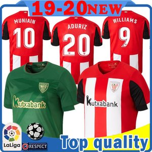 mens Athletic Bilbao FC Soccer Jersey 9 WILLIAMS 20 ADURIZ shirt 4 I.MARTINEZ 7 BENET 10 MUNIAIN 8 UNAI LOPEZ CORDOBA DANI GARCIA Futebol