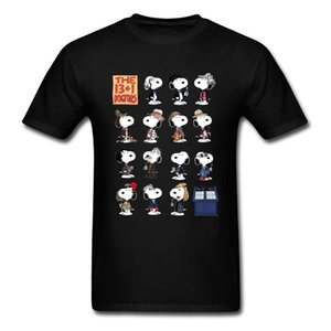Doctor Who Peanuts Comic T Shirts Scooby-Doo Terrier Dog Dr Who Tshirt Tardis Time And Space Ship Dalek Funny T Shirt 3D Men