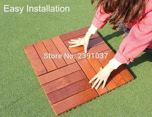 عالية الجودة 11PCS 1BOX 30x30cm ماء شرفة الطابق الطابق في الهواء الطلق البلاط للحديقة البلاط خشبية