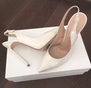 Amazing2019 chaussures à talons aiguilles forte fine avec sexy bouche peu profonde blanc retour air sandales femme nude couleur baotou pantoufle
