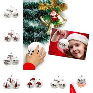 Noel Plastik Top Noel ağacı Asma Toplar Ev Partisi Mat Beyaz Topu AVM Ağacı Ana Noel Ağacı Topu 6cm