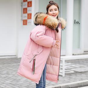 KAR PINNACLE 2018 kadın Uzun Parkas Kış Kalınlaşmak Sıcak -25 derece kapüşonlu dış giyim rüzgar geçirmez ceket palto artı boyutu M-3XL