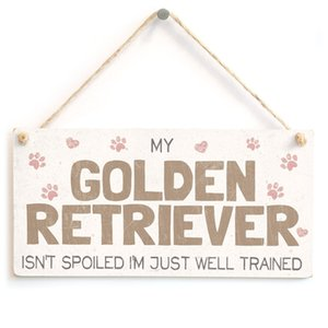 لا تدلل Meijiafei My Golden Retriever ، أنا مدربة جيدًا - علامة هدايا الإكسسوارات المنزلية من Dogjie رائعتين لمالكي Golden Retriever Dog