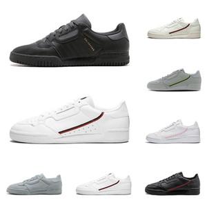 2020 calabasas powerphase Continental 80 мужчины женщины кроссовки тройной черный белый OG мода мужские кроссовки плоские туфли размер 36-45