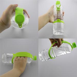 Drinkware silicone maniglia bottiglia portatile Handle Camping a gancio-on escursionismo Viaggiare Water Bottle Carrier maniglia 9 colori