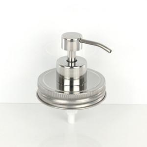 Mason Jar (Jar not include) крышка Оптовая шампунь из нержавеющей стали лосьон для рук жидкое мыло дозатор насос