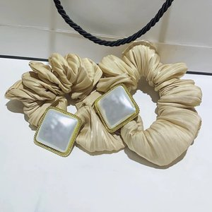 Yeni öğeler Altın tel kumaş kare kabuk elmas taklidi C harfi lastik bant moda işareti saç kravat lüks baş halat tasarımcı saç accessries