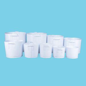 Sacchetti di tessuto non tessuto di vasi di tessuto bianco crescere con manici Piantare Seme di vaso di fiori piantina piantina di varie dimensioni spedizione gratuita