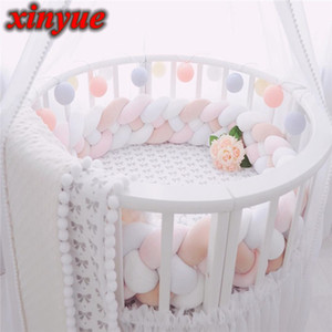 1.5M 150CM Cushion Bumpers in the Crib For Newborn Baby Room Protector Baby Bed Pillow Bumper Decor Cot Infant Things For