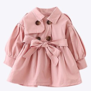 Ropa para bebés recién nacidos 2017 otoño arco capa ropa infantil para niños outwear bebé niñas moda ropa de invierno abrigos para bebés