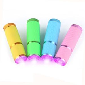 Gratuit DHL 9 LED Mini lampe de poche UV Ultraviolet Inspection Détecteur Torche Lumière De Poche Lampe De Poche Portable Utilisant 3 * piles AAA