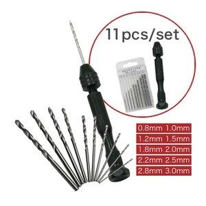 Mini Micro Hand Drill 10 / 25pcs спирального сверла деревообрабатывающего Буровой Роторного инструмента ювелирного