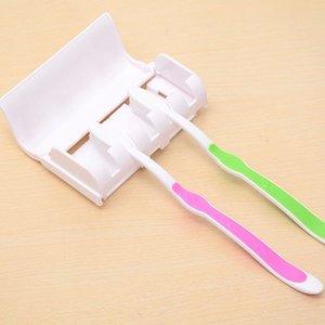 Holder Famiglia automatico Spazzolino da denti con dentifricio Tooth Brush Holder montaggio a parete Rack Accessori bagno Set
