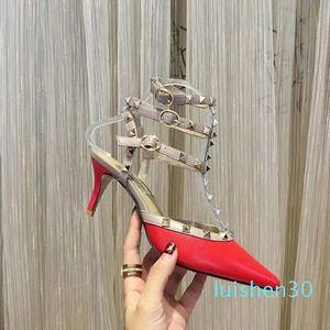 Tasarımcı Sandals askısı topuk elbise sandalet Suedue patent Ayaklı kutusu büyüklüğü 35-41 kadın terlikleri AL30 ile deri ayakkabı lüks sandaletler Floplar