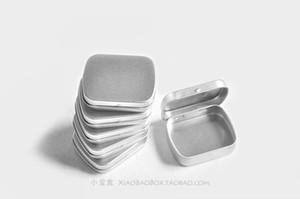 Оптово Бесплатная доставка 10pcs / серия Матовый Мини Железный Tin Box Высокое качество Портативный Silver / White Tin Box Jewelry Stamp Storage Box