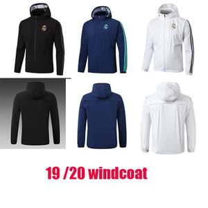 2019 20 Real Madrid Tracksuit Soccer Windcoat Zíper Capuz Completo Wind Coat 19 20 Real Madrid Maillot Winter Casaco