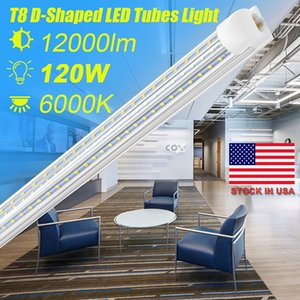 SUNWAY-CN , D Shaped V Shaped Integrated LED Tubes Light 4ft 8ft LED Tube T8 72W 120W triplex Sides Bulbs Shop Light Cooler Door Light