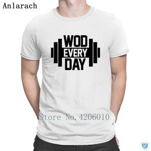 Wod каждый день футболки тройник топы модные личности мужская футболка основные интересные 100% хлопок футболка семья