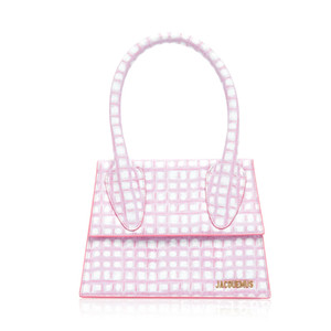Moda exterior Mini Foldover Flap Mini Bolsa Bolsa de Ombro Le Chiquito Malha manta PU Leather Mini Walking Mostrar Bag
