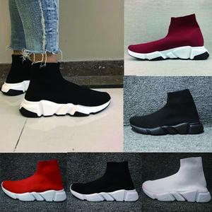 Balenciaga Sock shoes Luxury Brand  Mann Frauen Geschwindigkeit Trainer stricken Socken strukturierte Sohle rot hohe Qualität lässig Italien-Schuhe laufen