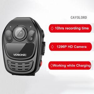 الشرطة كاميرا HD 1296P الجسم كاميرا حارس ماء البسيطة كاميرات الفيديو للرؤية الليلية كشف الحركة DVR مسجل