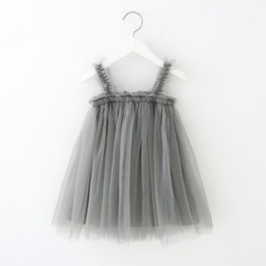 Enfants Designer Suspend De Filles Marque Princesse Robes Fashion Girls Mesh Jupe Robe Enfants luxe Été Jupes bébé Mode Jupe