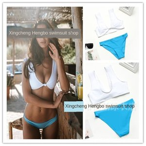 Split triangle swimwear features is the deduction of the V-character gathered swimsuit bikini sexy back-leaking hipster bikini