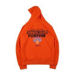 Deseo usted estaba Hear Mens Astroworld MSG Knicks sudaderas con capucha 19SS otoño invierno con capucha Negro Naranja Hombes Sudaderas Tops