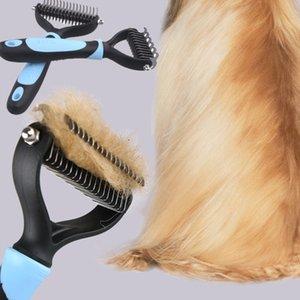 Perro de mascota Faroot piel de gato nudo cortador Dematting y estética derramamiento de Rake Trimmer pelo de la herramienta de piel del cepillo del peine del animal doméstico Peine