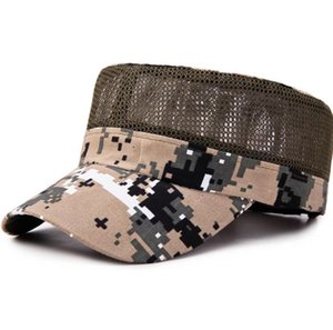 Hot Sell Men Adjustable Camouflage Baseball Tennis Cap Outdoor Summer Sunscreen Mesh Hats Hip-Hop Hat Dropshipping