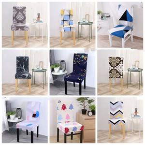 Главная Съемная крышка стула моды Законтрактованные печатных спандекс Эластичный Чехол крышки стула заразились Свадебные стулья Декор WY536Q