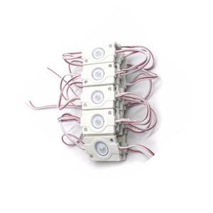 محرك الدفع عالي الطاقة 3030 LED Backlight module IP67 حقن ضد الماء led modul, advertising led module DC12V1. 5 W with lens Crestech