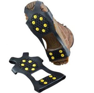 10 Zapato Stud S M L XL antideslizante nieve Spikes invierno antideslizantes Ice Grips grapas de crampones subiendo los zapatos al aire libre de la cubierta crampones 1 par = 2pcs