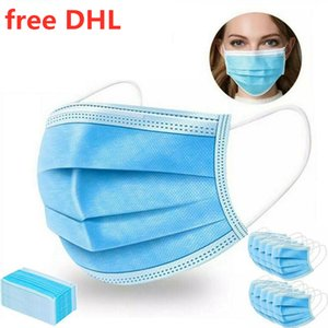 Mask Face Free Disposable DHL!!!In Mouth Stock!!! 3-Ply Anti-Haze Dust Proof Earloop Mask Protective Products Anti-fog Masks 200pcs