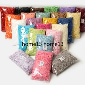 100g Colorful tagliuzzato piega di carta rafia di caramella di fai da te regalo Materiale di riempimento dei tessuti del partito Packaging Filler Wedding Decor