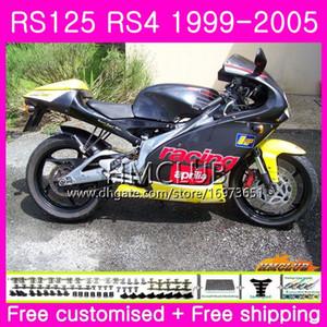 RS125R For Aprilia RS 125 1999 2000 2001 2002 2003 2005 40HM.25 RSV125R RS4 RS-125 RSV125 R RS125 99 00 01 02 03 04 05 Black Sale Fairing