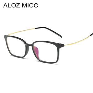 ALOZ MICC 2019 Nuovi uomini Occhiali telaio retro designer miopia marca ottica trasparente Occhiali cornice Occhiali Uomo Donna A104