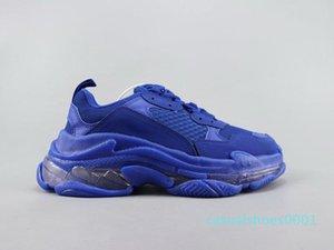 Sapatos Casuais Crystal Bottom Triple S Track 2.0 Designer Old Dad Combinação De Ténis Nitrogénio Outsole Men Women Tripler SneakersAC01