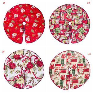 Christmas Tree Skirt Base Floor Mat Apron Cover Christmas Party Home Decor Diameter 60cm 90cm Cartoon Christmas Tree Ornament VT0444