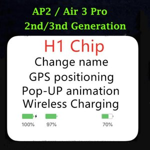 New AP2 Tws Oreillettes AP3 sans fil écouteurs H1 Chip positionnement GPS antibruit Casque Pro 3 Casque Airs Pk I7 i9s i200 i500 TWS