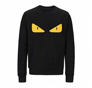 19SS Mens конструктора Толстовка Толстовка Женщины Роскошный свитер балахон с длинным рукавом глаза вышивки Марка толстовки моды Sweatershirt B100965K