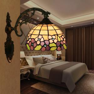 Nordic Lâmpada de parede Tiffany Europeu de cabeceira quarto Wandlamp criativa Vintage Sala Varanda Corredor Escadas Corredor Luz Espelho