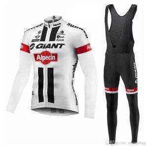 Nouvelle Arrivée Giant Hommes Vélo à manches longues Jersey Bib Pants Pantalons Ropa Ciclismo Vêtements de vélo Vêtements Vélos Portez-vous Hommes F52509