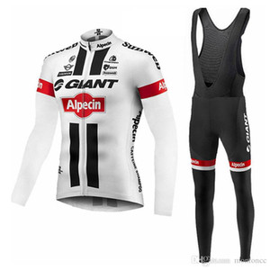 Nuovo arrivo Giant Mens Cycling Manica lunga Jersey Bib Pants Sets Ropa Ciclismo Abbigliamento da ciclismo Abbigliamento Biciclette Abbigliamento Bicycle Uomo Comomodo F52509