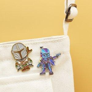 Dongmanli O Mandaloriana TV Show do bebê de esmalte duro pins broches para Mulheres Moda lapela Presentes Emblema Pin 0215